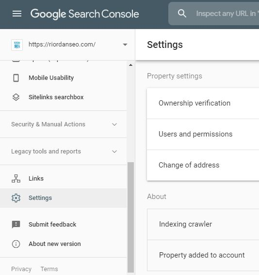 search console webmaster tools add new user