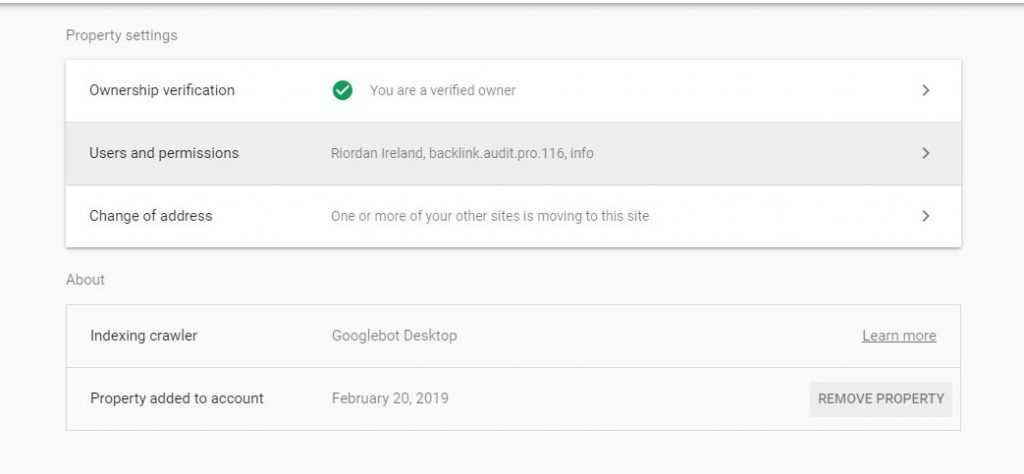 search console webmaster tools users permissions