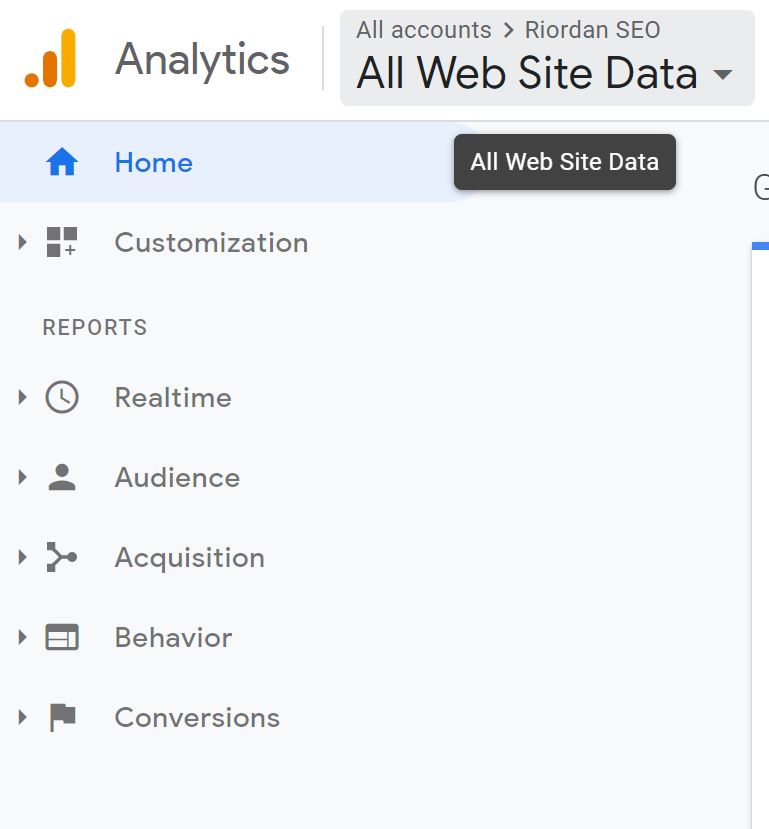 logging into google analytics