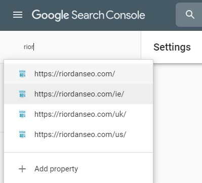search console webmaster tools